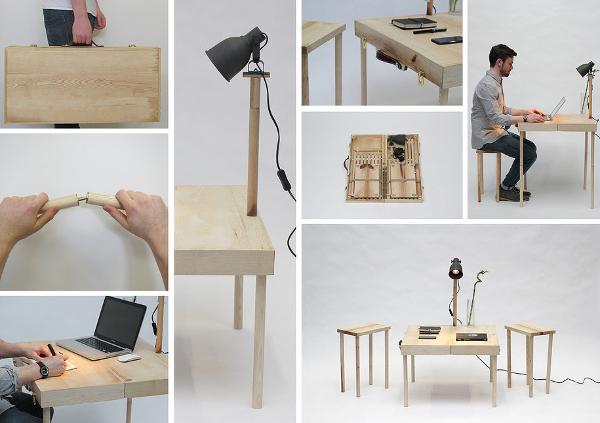 Muebles transformables que combinan usos en espacios for Muebles transformables