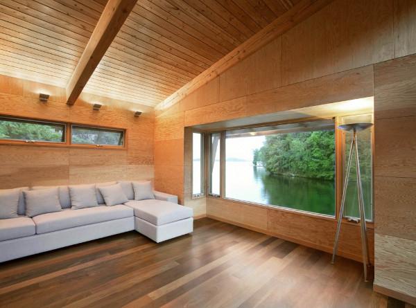 10 casas flotantes vida sencilla minimalista y econ mica - Fotos de casas de madera por dentro ...